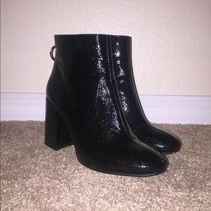forever 21 pull-ring leather boots